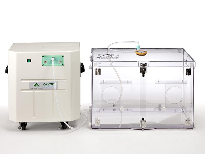 酸素濃縮器+小型ケージ